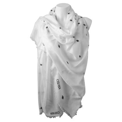Kenzo Zijden sjaal met partijen