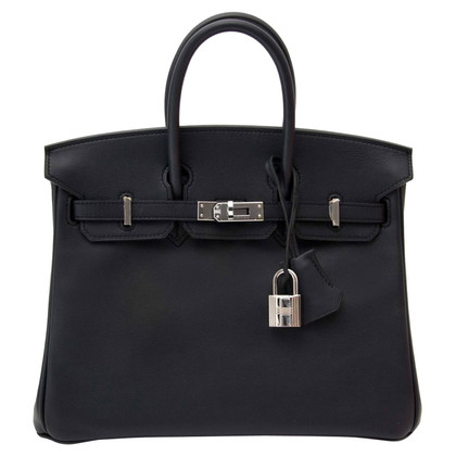 "Hermès ""Birkin Bag 25 Swift Bleu Nuit PHW"""