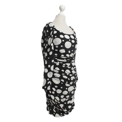 Diane von Furstenberg zijden jurk in zwart / White