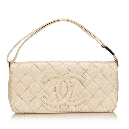 Chanel Schoudertas in crème
