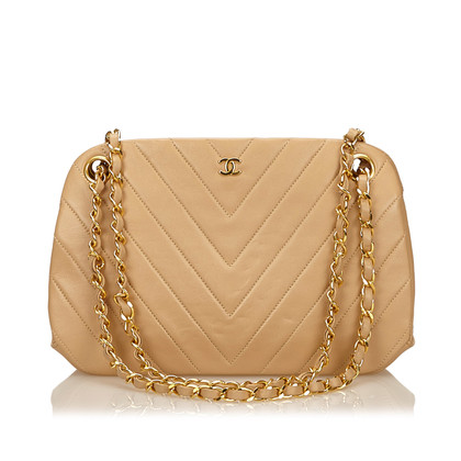 Chanel Lambskin Leather Chevron Shoulder Bag