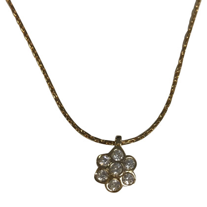 Christian Dior Fine chain with flower pendant