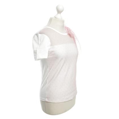 Valentino T-shirt Meshbesatz