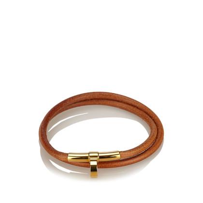 Hermès Leder Choker Halskette