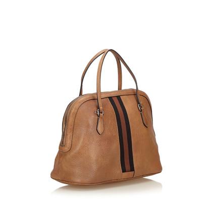 Gucci Leather Web Handbag