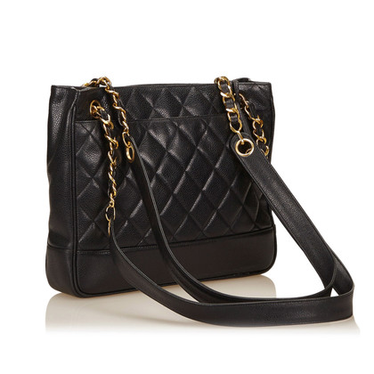 Chanel Quilted Caviar Leather Tote