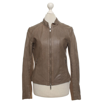 Arma Leather jacket in taupe