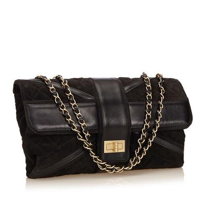 Chanel Suede Union Jack Mademoiselle Flap Bag
