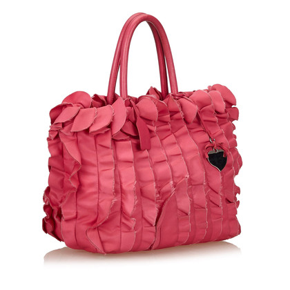 Prada Ruffle Satin Tote Bag