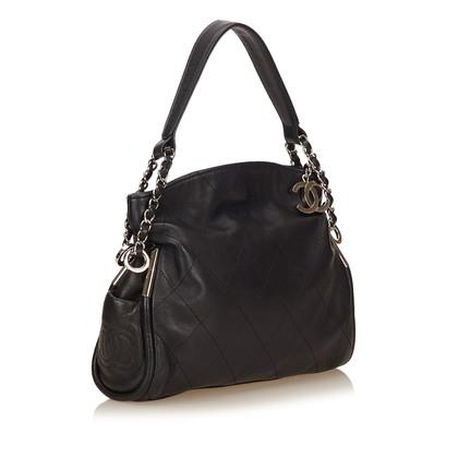 Chanel Wild Stitch Lambskin Leather Shoulder Bag