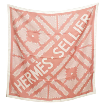 Hermès Zijden sjaal met patroon