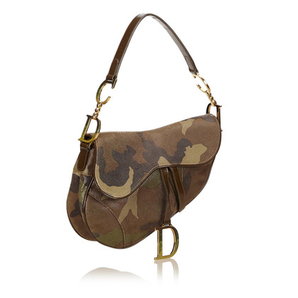 Christian Dior Camouflage Suede Saddle
