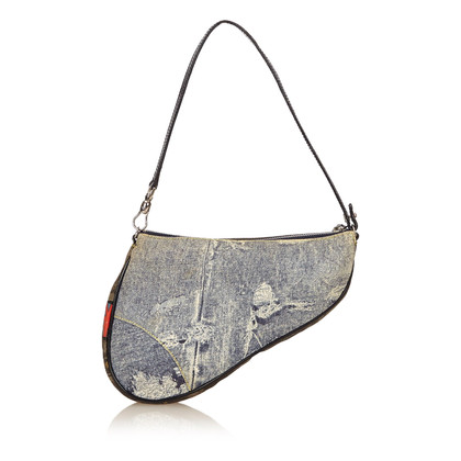 Christian Dior Cotton Saddle Bag