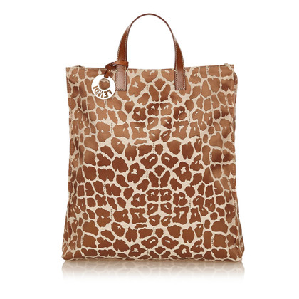 Fendi Leopardmuster Canvas Tote Bag