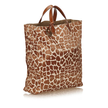 Fendi Leopard Patroon Canvas Tote Bag