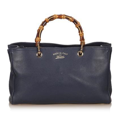Gucci Leder Bambus Shopper Medium