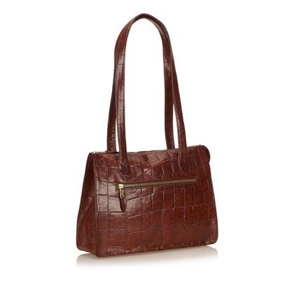 Mulberry Embossed Leren Tote Bag