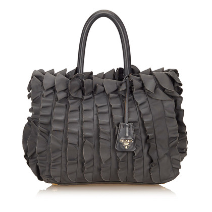 Prada Tessuto Nylon Pleated Tote Bag