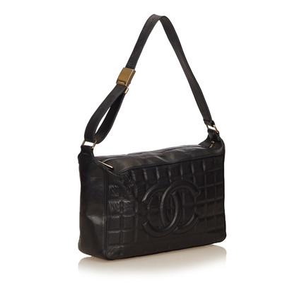Chanel Chocobar Leder Umhängetasche