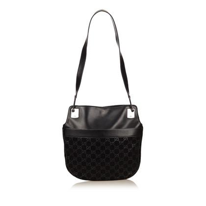 Gucci Guccissima Suede Shoulder Bag