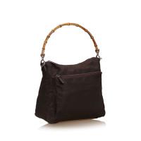 Gucci Nylon Bamboo Handbag