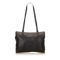 Christian Dior Leather Tote Bag