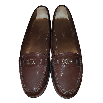 Escada Luxe patent leather loafers
