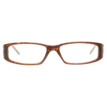 versace schmale brille in braun second hand versace. Black Bedroom Furniture Sets. Home Design Ideas