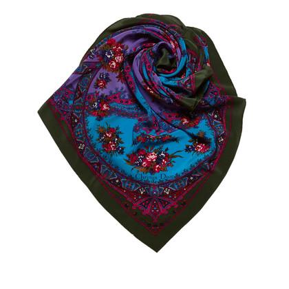 Christian Dior Sciarpa di seta di stampa floreale