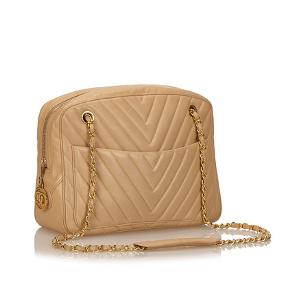 Chanel Chevron Lambskin Leather Shoulder Bag