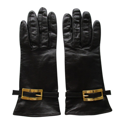 Versace Leather Gloves