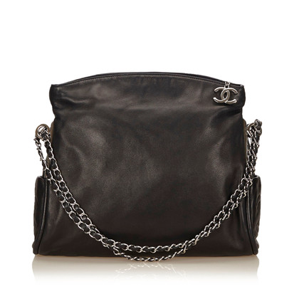 Chanel Lambskin Leather Foldover Shoulder Bag