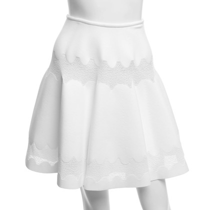 Alaïa skirt in white