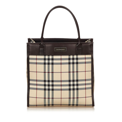 Burberry Sac à main en nylon plaid