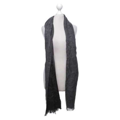 Hermès Scarf in black and dark gray