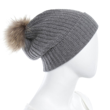Other Designer Le Petit Chou - cap in grey with fur trim