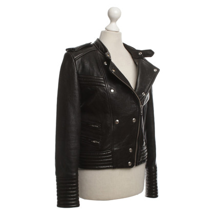 Iro Leather jacket in black