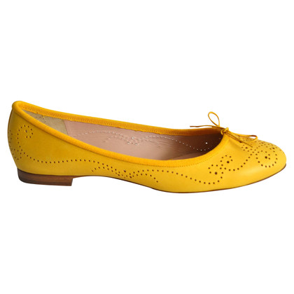 Unützer Leather ballerinas in yellow
