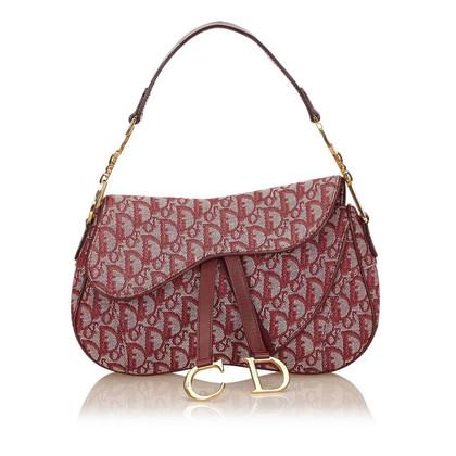 Christian Dior Diorissimo Jacquard Doppel Saddle Bag