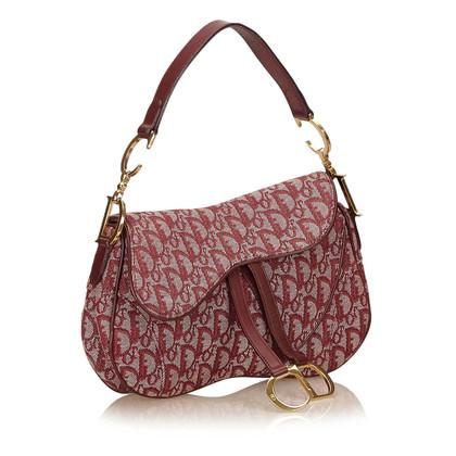 Christian Dior Diorissimo Jacquard Double Saddle Bag
