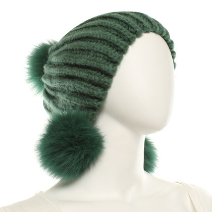 Max Mara Knitted cap in green