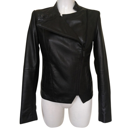 Calvin Klein Leather jacket in black
