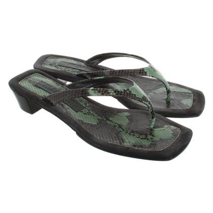 Jil Sander Sandals in green / gray