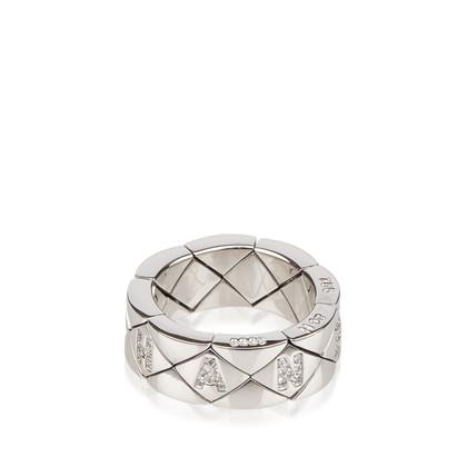Chanel Gesteppter Diamant verzierte 18K Ring