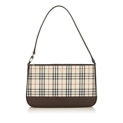 Burberry Plaid Nylon Shoulder Bag