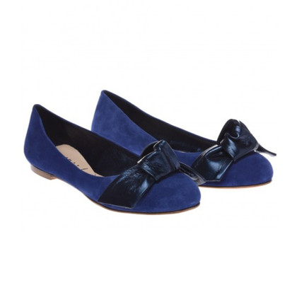Baldinini Ballerina's in Royal Blue