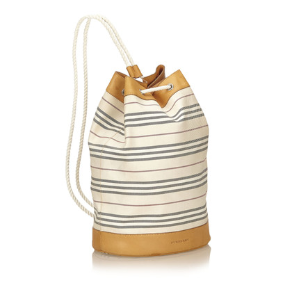 Burberry Striped Cotton Rucksack