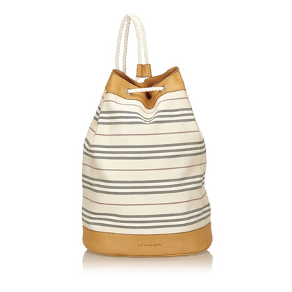 Burberry Striped Cotton Backpack