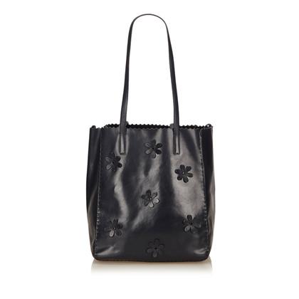 Prada Leren Floral Tote Bag