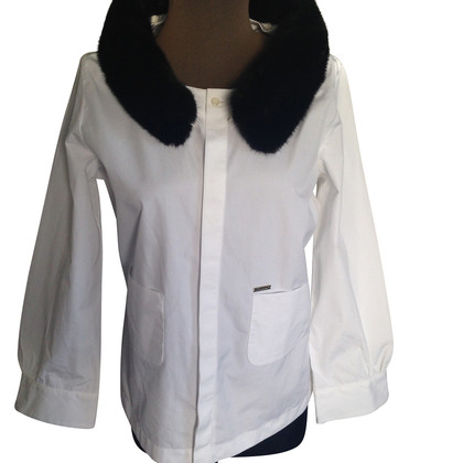 Dsquared2 Shirt with fur collar